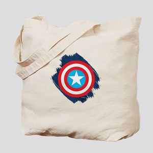 Captain America Distressed Shield Tote Bag