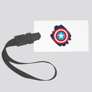 Captain America Distressed Shiel Large Luggage Tag