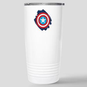 Captain America Distres Stainless Steel Travel Mug