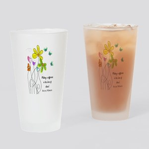 Social Worker Drinking Glass