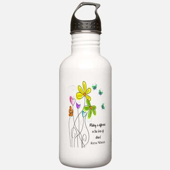 Social Worker Sports Water Bottle
