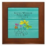 Social worker Framed Tiles