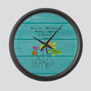 social worker Large Wall Clock