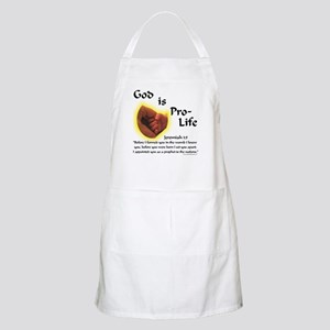 God is Pro-Life BBQ Apron