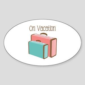 On Vacation Sticker
