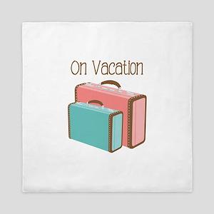 On Vacation Queen Duvet