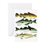 4 Cod fishes c Greeting Cards