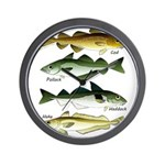 4 Cod fishes c Wall Clock