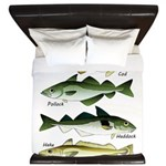 4 Cod fishes c King Duvet
