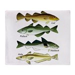4 Cod fishes c Throw Blanket