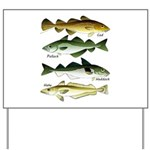 4 Cod fishes Yard Sign