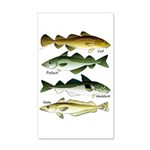 4 Cod fishes Wall Decal