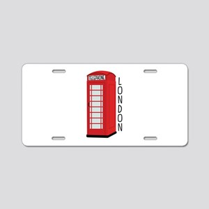 Telephone London Aluminum License Plate
