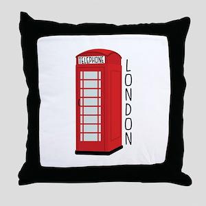 Telephone London Throw Pillow