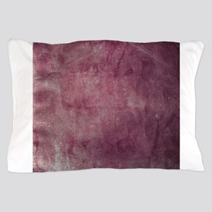 Pink stained paper texture Pillow Case