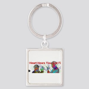 Deaf Hearts Hear Fine Keychains