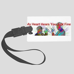 Deaf Hearts Hear Fine Luggage Tag