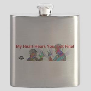 Deaf Hearts Hear Fine Flask