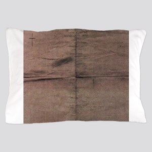 Brown silk texture squares Pillow Case
