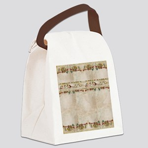 French Market Label Birds on a Wi Canvas Lunch Bag