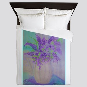 Purple Larkspur Banquet Queen Duvet