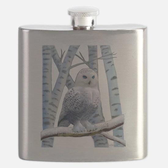BLUE-EYED SNOW OWL Flask