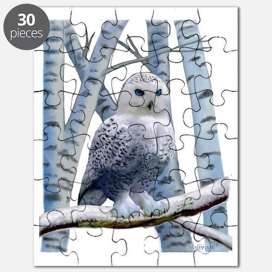 BLUE-EYED SNOW OWL Puzzle