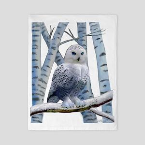 BLUE-EYED SNOW OWL Twin Duvet