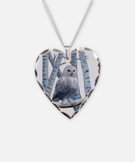 BLUE-EYED SNOW OWL Necklace