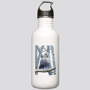 BLUE-EYED SNOW OWL Stainless Water Bottle 1.0L