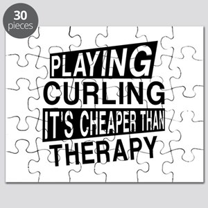 Awesome Curling Player Designs Puzzle