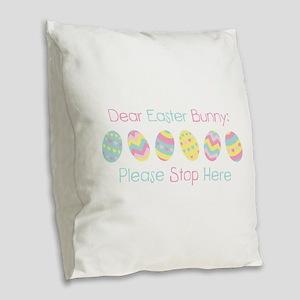 Dear Easter Bunny Burlap Throw Pillow