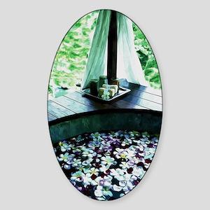 Spa Bath Tub Sticker (Oval)