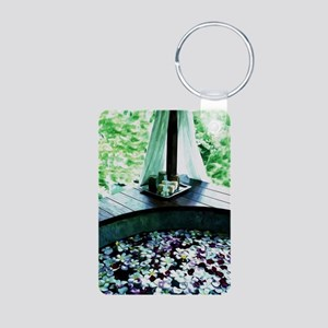 Spa Bath Tub Aluminum Photo Keychain