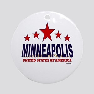 Minneapolis U.S.A. Ornament (Round)