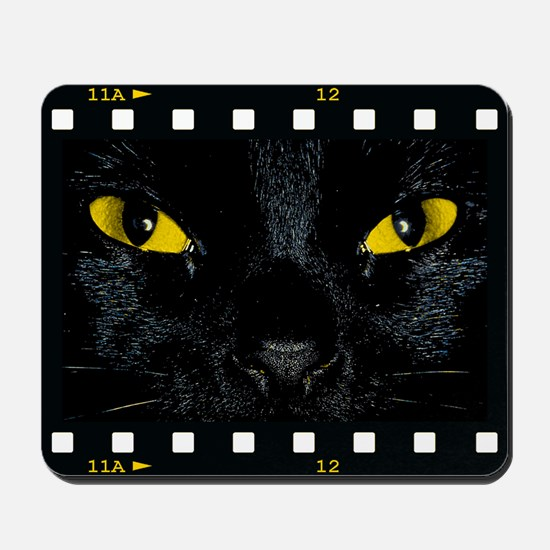 Black Cat Stare Mousepad
