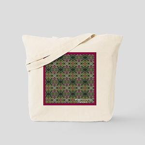 12x12 pink n green pattern MB CA Tote Bag