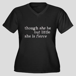 She is Fierc Women's Plus Size V-Neck Dark T-Shirt