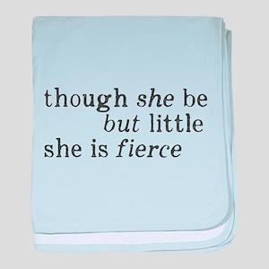 She is Fierce Shakespeare baby blanket