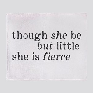 She is Fierce Shakespeare Throw Blanket