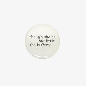 She is Fierce Shakespeare Mini Button