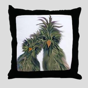 DODO DOODLE LOVE BIRDS Throw Pillow