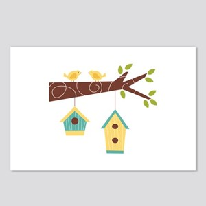 Bird House Tree Branch Postcards (Package of 8)