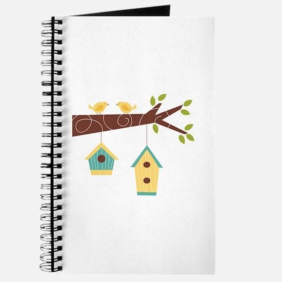 Bird House Tree Branch Journal