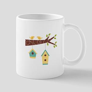 Bird House Tree Branch Mugs
