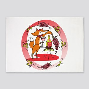 Fox and Grapes Vin Rose 5'x7'Area Rug