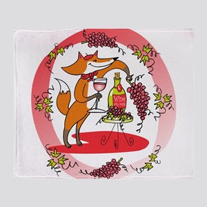 Fox and Grapes Vin Rose Throw Blanket