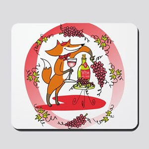 Fox and Grapes Vin Rose Mousepad
