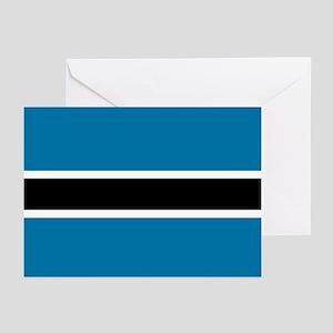 Botswana flag Greeting Cards (Pk of 10)