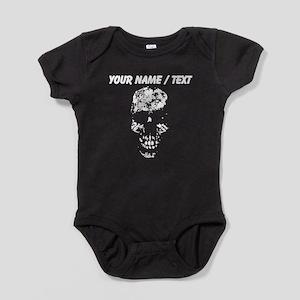 Custom Ghost Skull Baby Bodysuit